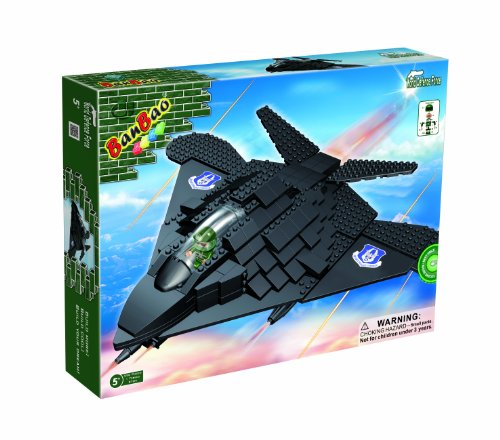 Spy Fighters - BanBao F-117 Spy Fighter Plane Toy Building Set, 250-Piece