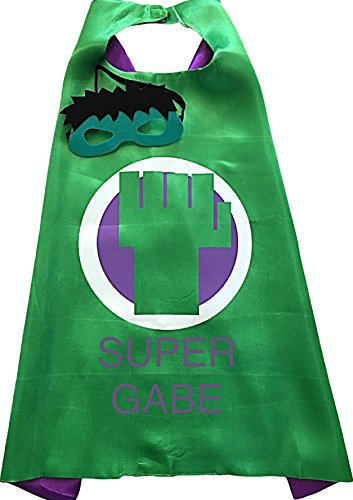 [Personalized Superhero Embroidered Cape and Mask Set by Thimbleful Threads (Fist Cape with Purple] (Iron Fist Superhero Costumes)
