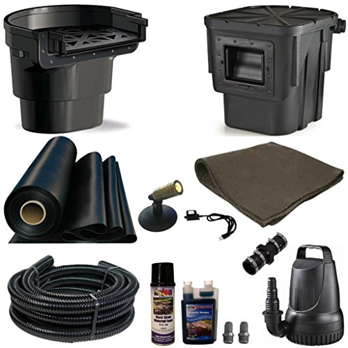 Half Off Ponds' MDA2 - 20 ft x 20 ft Medium Atlantic Pond Kit w/ 4,100 GPH Pump, Atlantic Oasis 16 Inch Waterfall, & Skimmer