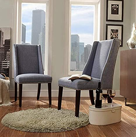Amazon.com: Hebel Chelsea Lane Wingback with Nailhead Accent ...