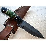 BC- T- 043 Custom Handmade Damascus Steel Knife- Beautiful Handle