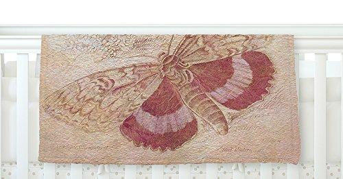 40 x 30 KESS InHouse Suzanne Carter Vintage Garden Butterfly Moth Fleece Baby Blanket