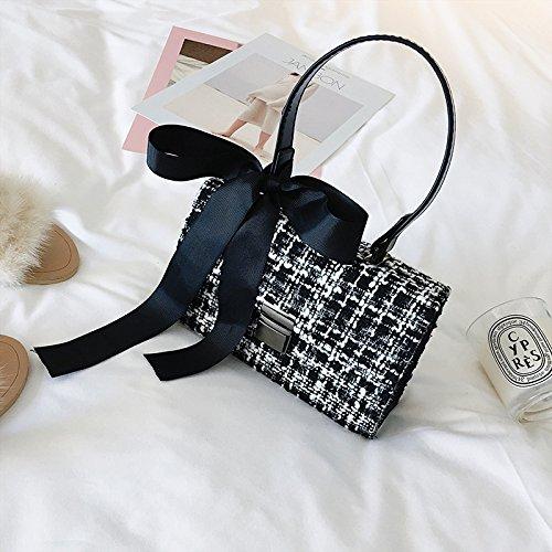 Marea black Paquete Invierno De Hombro Lazo Woman Blanco incense Xiekua De De De Hombro Bolso Bolso Bolsa UwORPAO4q6