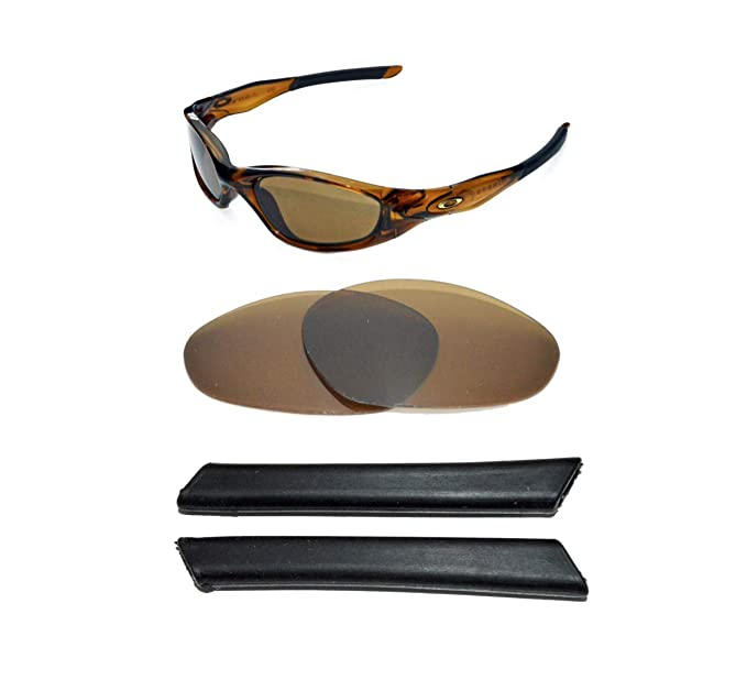 e6ad25659f Image Unavailable. Image not available for. Colour  NEW POLARIZED BRONZE  REPLACEMENT LENS SOCKS FOR OAKLEY MINUTE 2.0 SUNGLASSES
