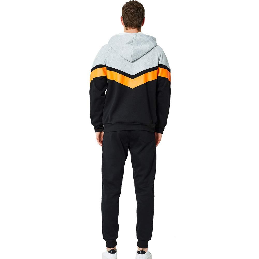 SWISSWELL Herren Trainingsanzug Sportanzug Jogging Jacke Hose Set Pullover Fitnessstudio Fleece Kapuzenpullis 2 Sätze Reißverschluss Sporthose +