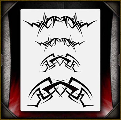 Tribal Flames 6 AirSick Airbrush Stencil Template ()