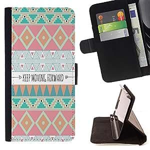 """For LG G4 Stylus / G Stylo / LS770 H635 H630D H631 MS631 H635 H540 H630D H542 ,S-type Avanzando motivación india"""" - Dibujo PU billetera de cuero Funda Case Caso de la piel de la bolsa protectora"""