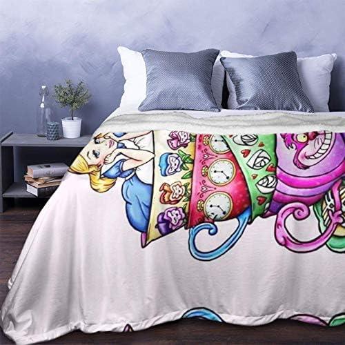 huashan Couverture Polaire - Alex Mignon au Pays des Merveilles, Taille de Jet légère, Douce et Confortable, Couverture de lit de Luxe 60 'X50'