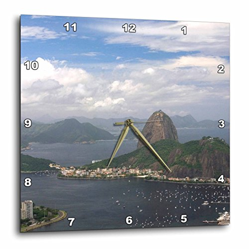3dRose Sugarloaf Peak at Rio De Janeiro, Brazil - SA04 Dfr0017 - David R. Frazier - Wall Clock, 15 by 15-Inch - Outlet Sugarloaf