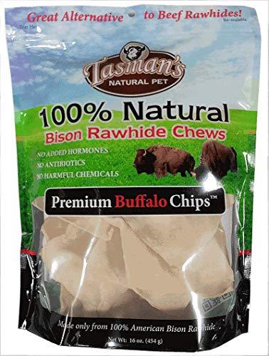 (Tasman's Natural Pet All-Natural Buffalo Rawhide Chips - 1 Pound )
