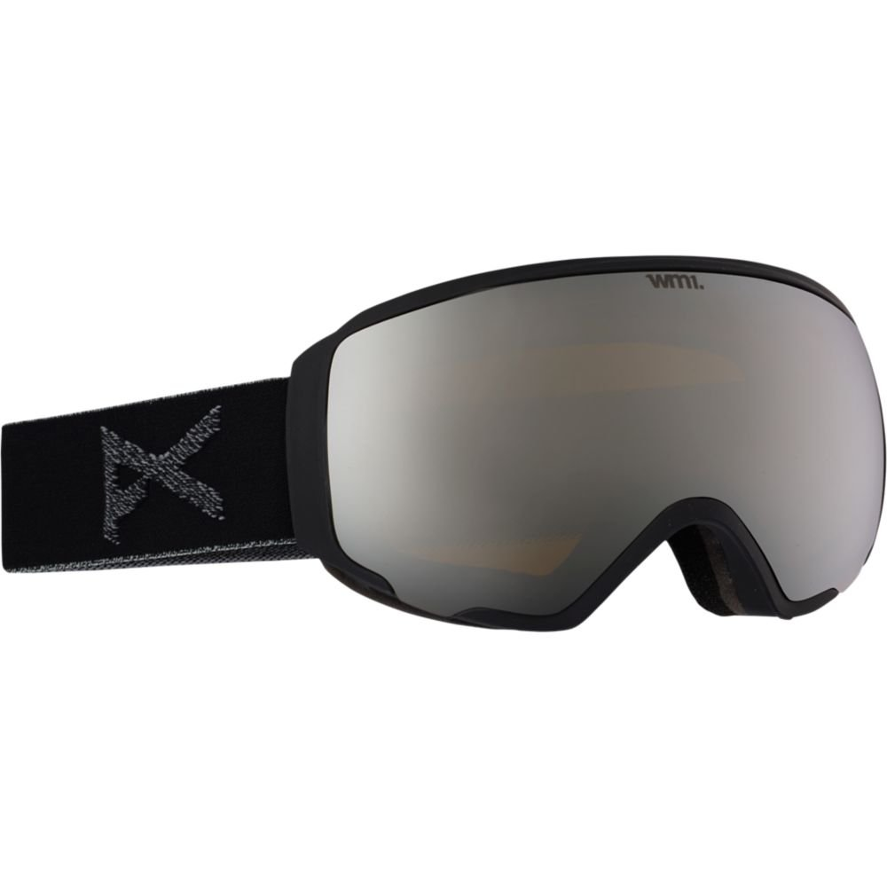 Anon Women's WM1 Goggle, Black/Silver Solex, One Size