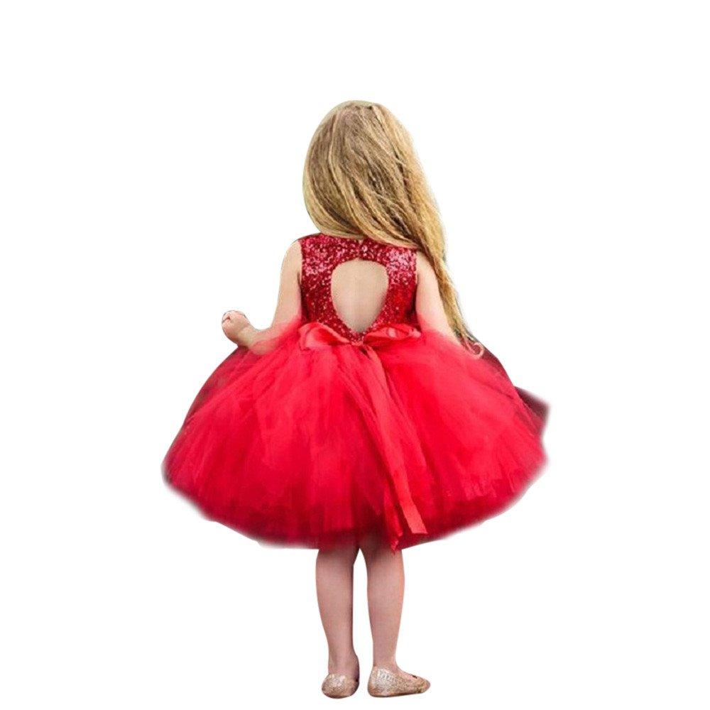 Costume da Principessa,Ragazze Principessa Vestito Abiti da Bambino in Tulle con Tutina di Principessa per Feste con Paillettes a Forma di Cuore per Bambini Vestito Bambina PANPANY