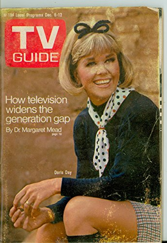 1969 TV Guide Dec 6 Doris Day - Central California Edition Very Good (3 out of 10) Well Used by Mickeys Pubs