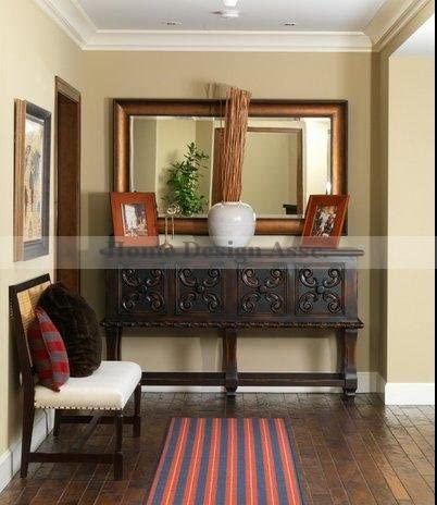 Extra Large Bronze Wall Mirror Wood Mantle XL