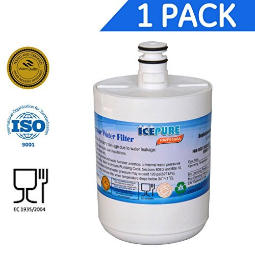 IcePure RFC0100A Best Premium Replacement Refrigerator Water Filter Cartridge LG 5231JA2002A LT500P Water Sentinel WSL 1