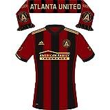 MLS Atlanta United Uniform/Scarf Sticker (GA) (Two Stickers in One) Sticker- Die-cut, Vinyl, All-weather, Waterproof, Super Adhesive, Outdoor & Indoor Use Sticker. INCLUDES FREE BONUS STICKER.
