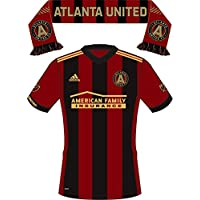 fan products of MLS Atlanta United Uniform/Scarf Sticker (GA) (Two Stickers in One) - Single - Premium Quality - Versatile All Weather Vinyl Sticker - Decorative and Self Adhesive