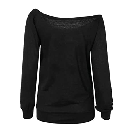 Amazon.com : Clearance!Youngh Womens New Blouses Shirts Ladies Off Shoulder Sexy Blouses Women Printed Shirts Long Sleeve Sweatshirt Pullover Tops Fashion ...