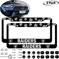 Fit Bears License Plate Frames 2 Pack Aluminum Alloy Black Bears License Plate Holder Universal American Frame for Honda Nissan GMC Jeep Benz BMW Toyota Cadillac Lexus