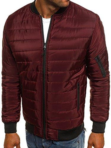 Chaqueta Chaqueta de para Cuero J Capucha Invierno Chaqueta 3056 OZONEE Vaquera Jacket con j Hombres Ak84 Style Mix Chaqueta style de Borgoña PwqWxBfS0O