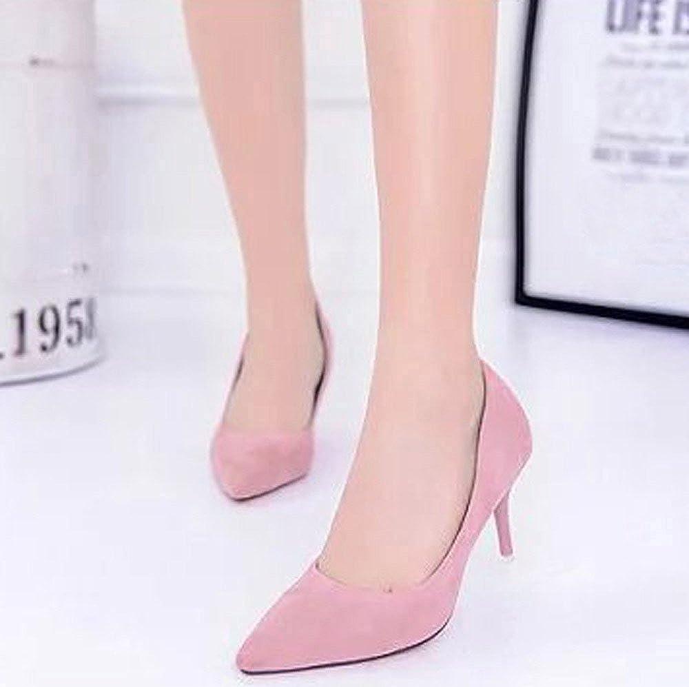 Alaso Chaussures Femme Zapatos de tacón para mujer de 8 cm, de alta calidad, para mujer sueca rosa 41: Amazon.es: Ropa y accesorios