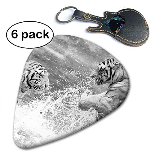 - Leopoldson Tiger and Tigress Playing in The Sea Guitar Picks Guitar Accessories (6pc) Celluloid Guitar Picks Plectrums for Musice Gift Music Lover