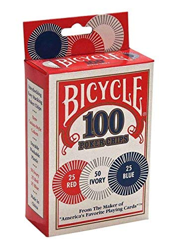 Bicycle 1006252 Bicycle Poker Chips 100 Count (Marketing Poker Chip)