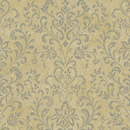 Chesapeake by Brewster PN66349 Perfectly Natural Beige Country Damask Wallpaper