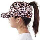 ScarvesMe C.C Exclusive Leopard Ponytail Messy Bun Ponycap Baseball Cap (Leopard)