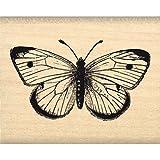 Florilèges Design FC114005 Tampon Scrapbooking Joli Papillon Beige 4 x 5 x 2,5 cm