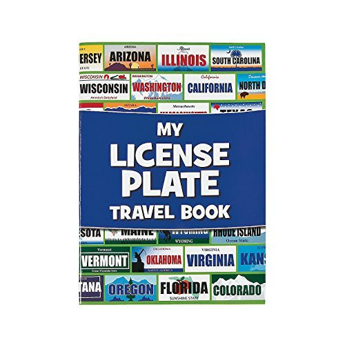 State License Plate (Fun Express License Plate Travel Sticker Book Game - 12 pieces)