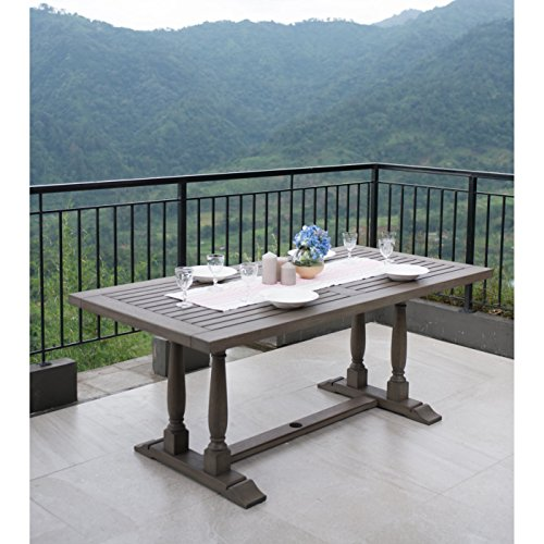 Cambridge-Casual Renley OS-320829 Grey Mahogany Rectangular Dining (Cambridge Rectangular Table)