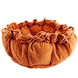 Bestruby Pet Cat Small/Medium Dog Bed Soft Warm House Kennel Cushion Basket Mat Pad Nest 5 Colors,Brown,M
