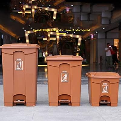 LSHWHT Cubos de Reciclaje Litterbin marrón, tamaños ...