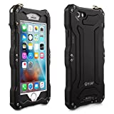 Alienwork Case for iPhone 6 Plus/6s Plus Shock Proof Bumper Cover splash proof Super hardness Metal black AP6SP06-01