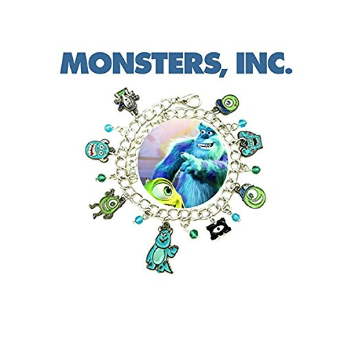 Outlander Gear Disney's Monsters INC. Charm Bracelet Movie Jewelry Multi Charms - Wristlet Mike and Sully (Sully Costume Monsters Inc Woman)