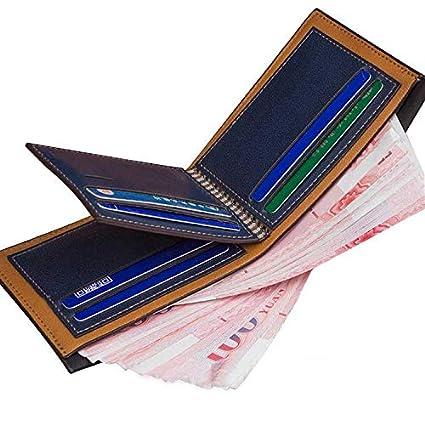 New Mens Fashion Bilfold PU Leather Wallet Credit ID Card Holder Pocket Coin Clutch Purse