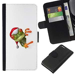 All Phone Most Case / Oferta Especial Cáscara Funda de cuero Monedero Cubierta de proteccion Caso / Wallet Case for Apple Iphone 5C // Helper Elf Winter Christmas