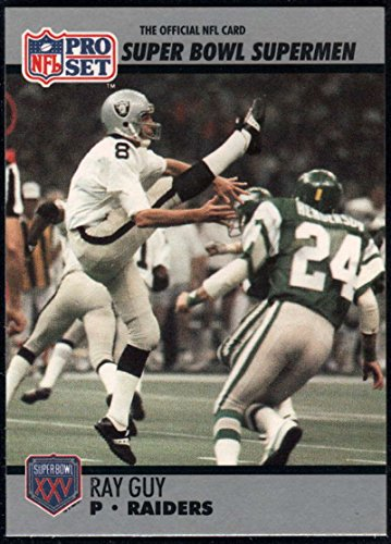 - Football NFL 1990-91 Pro Set Super Bowl 160 #116 Ray Guy NM-MT