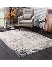 """Rug Branch's Havana Collection Traditional Indoor Modern Area Rug and Runner (8x11 feet) Distressed - 7'9"""" x 10'8"""", Navy Blue"""