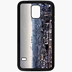 Unique Design Fashion Protective Back Cover For Samsung Galaxy S5 Case Distance Crane Church Home Black