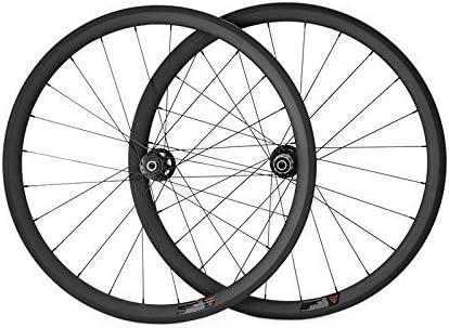 hulk-sports 700 C ruedas de carbono para carretera bicicleta freno de disco 38 mm Tubular 23 mm de ancho de 38, 3K/UD Front wheel: Amazon.es: Deportes y aire libre