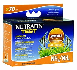 Nutrafin Ammonia 0.0 to 7.3 Mg/L for Freshwater, 70 -Tests