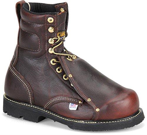 Carolina Stivali Scarpe Da Uomo Ciao Con Punta In Acciaio Da Guardia Made In Usa Stivali 505 Pelle Di Radica