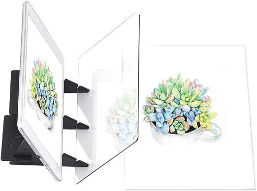 Tablero De Dibujo De Boceto De Anime Herramienta De Dibujo Roebii Tablero De Dibujo De Imagen /óptica,Panel De Trazado De Dibujo De Bricolaje Panel De Reflexi/ón del Proyector De Imagen Port/átil