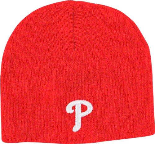 ('47 MLB Philadelphia Phillies Brand Beanie Knit Hat, One Size, Red)