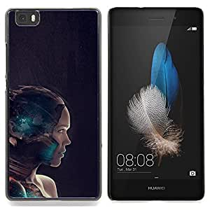SKCASE Center / Funda Carcasa protectora - Cyborg Mujer;;;;;;;; - Huawei Ascend P8 Lite (Not for Normal P8)