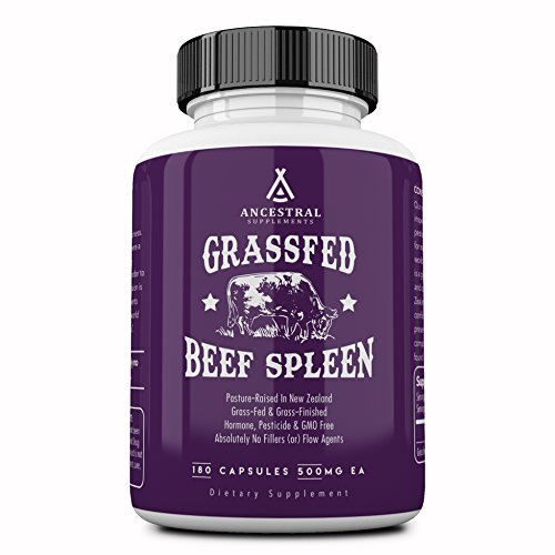 Ancestral Supplements Grass Fed Beef Spleen (Desiccated) - Immune, Allergy, Iron (5 X's More Heme Iron Than Liver)