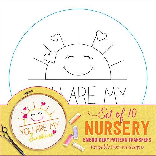 Nursery Embroidery Pattern Transfers (set of 10 hoop - Transfer Pattern