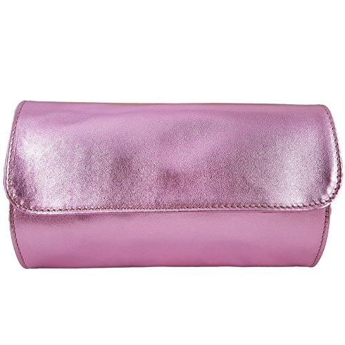 Freyday Metallic Pink in Made Made Clutch Women's Freyday Italy rqUrwnFW